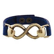 Art Smith by BARSE Infinity Blue Leather Bracelet
