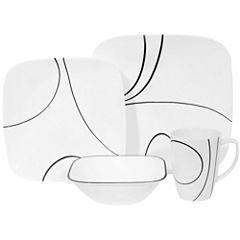 Corelle® Square™ Simple Lines 16-pc. Dinnerware Set