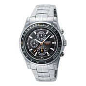 Casio® Mens Stainless Steel Aviator-Style Chronograph Watch MTP4500D-1AV