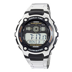 Casio® Mens Gray Resin Strap Solar Sport Watch AE2000WD-1AV