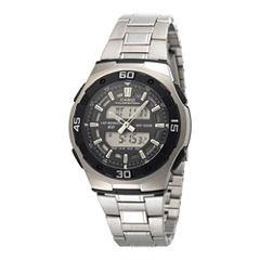 Casio® Active Dial Mens Stainless Steel Analog/Digital Watch AQ164WD-1AV