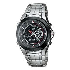 Casio® Edifice Mens Stainless Steel Analog/Digital Watch EFA119BK-1AV