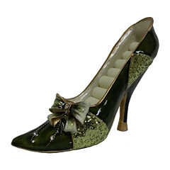 Green Bow Shoe Ring Holder