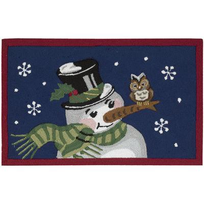 Nourison® Snowman Hand Hooked Rectangular Rug