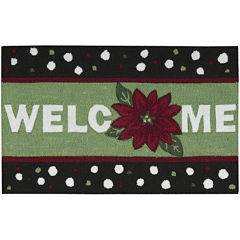 Nourison® Welcome Holiday Hand-Hooked Rectangular Rug