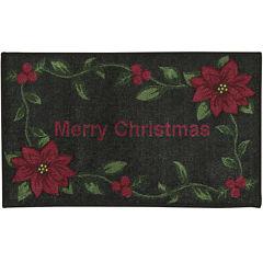 Nourison® Red Merry Christmas Rectangular Rug
