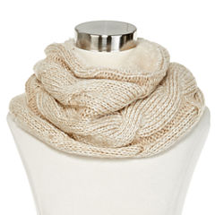 Mixit™ Cable-Knit and Faux-Fur Cowlneck Scarf