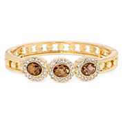 Monet® Champagne Crystal Stretch Bangle Bracelet