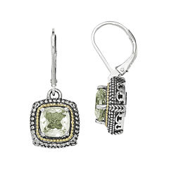 Shey Couture Genuine Green Quartz Sterling Silver Earrings