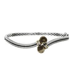 Shey Couture Genuine Smoky Quartz and Diamond-Accent Bangle Bracelet