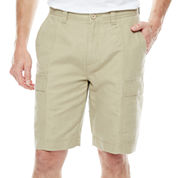 Island Shores™ Linen-Cotton Cargo Shorts