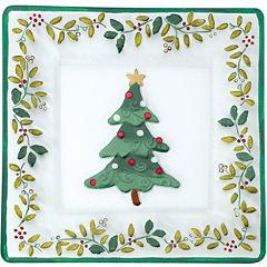 Pfaltzgraff® Winterberry Square Glass Platter