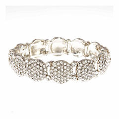 Natasha Accessories Womens White Stretch Bracelet