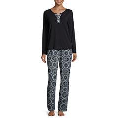 Liz Claiborne Jersey Pant Pajama Set