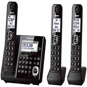 Panasonic KX-TGF343B Expandable Digital Cordless Answering System with 3 Handsets - Black
