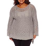 Arizona Bell Sleeve Sweater-Juniors Plus