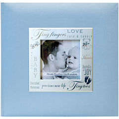 Fabric Expressions Baby Blue 200-Pocket Photo Album