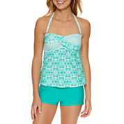 Aqua Couture Solid Bandeau Swimsuit Top