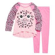 Girls 2 PC Critter Pant Pajama Set-Toddler