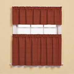Saturday Knight Austin Rod-Pocket Kitchen Curtains