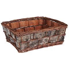 Household Essentials® Birch Bark and Wicker Basket