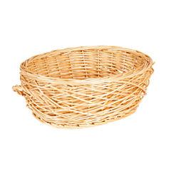 Household Essentials® Spring Bird Nest Willow Oval Basket