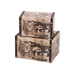 Household Essentials Animal Kingdom 2-pc. Storage Bin