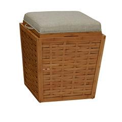 Household Essentials® Bamboo Storage Ottoman