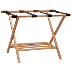 Household Essentials® Bamboo Luggage Rack with Tray