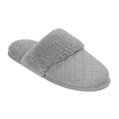 Dearfoams® Womens Microfiber Scuff Slippers