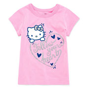 Hello Kitty Hello Kitty Graphic T-Shirt-Toddler Girls