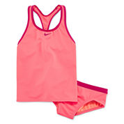 Nike Girls Solid Tankini Set - Big Kid