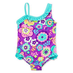 Breaking Waves Girls One Piece+Cover-Ups-Toddler