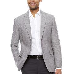 Stafford Linen Cotton Grey Sport Coat- Slim Fit
