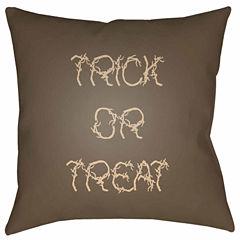 Decor 140 Tricks And Treats Square Throw Pillow
