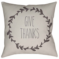 Decor 140 Wreath Of Thanks Square Throw Pillow