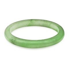 Green Quartz Bangle Bracelet