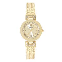 Geneva Womens Gold-Tone Bangle Bracelet Watch