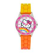 Hello Kitty Hello Kitty Girls Orange Strap Watch-Hk9000jc
