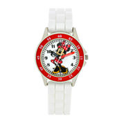 Girls White Strap Watch - MN1160JC