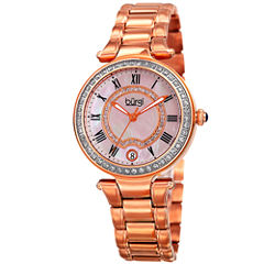 Burgi Womens Rose Goldtone Bracelet Watch-B-165rg