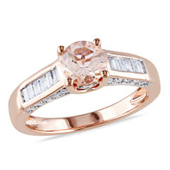 tw pink morganite 14k gold engagement ring - Jcpenney Jewelry Wedding Rings