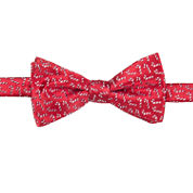 STAFFORD CANDY CANE PRE-TIED BOWTIE