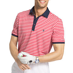 IZOD Golf Explorer Stripe Short Sleeve Polo Shirt