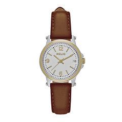 Relic® Womens Brown Zr34350 Strap Watch