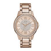 Relic® Womens Rose Crystal Zr12178 Bracelet Watch