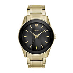 Relic® Mens Gold Dial Brc_Zr77273 Watch