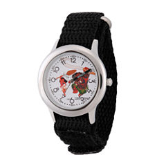 Disney Moana Boys Black Strap Watch-Wds000030
