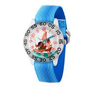 Disney Moana Boys Blue Strap Watch-Wds000038