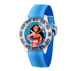 Disney Moana Girls Blue Strap Watch-Wds000043